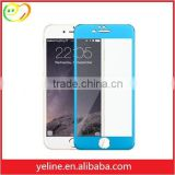 Blue paint phone protect film screen glass cover for IPhone 6s plus