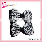2014 Fashion simple double layer animal pattern grosgrain ribbon hair bow alligator clip (DW--0009)
