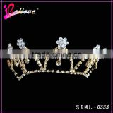 Nice diamond bridal tiara,crystal wedding gold tiaras,factory wholesale tiara crown