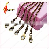 Stock fashion antique brass ball chain with 5 different shape special hook metal chain for bags