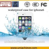 Case for iPhone 6/6 plus Waterproof mobile phone case with adjustable phone holder white