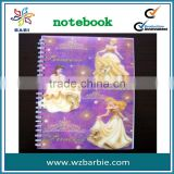 princess 3d lenticular cover notebooks