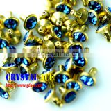 High quallity strass crystal rhinestone rivet for leather