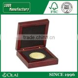 Fancy Cheap 2 Soccer Award Medals Packaging Wooden coin Box