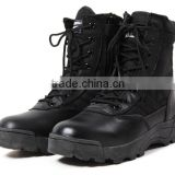 Winter Autumn outdoor military tactical black leather boots