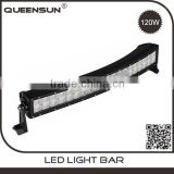 Super quality waterproof 20 inch 120w Jeep Wrangler double row curve led light bar mounting bracket