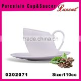 Custom White Ceramic Coffee Cup Set High quality ceramic coffee cup and saucer