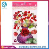 Newest beautiful 5D flower shape sticker for room decor