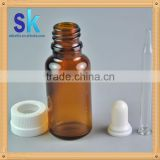 glass essential oil bottle with child safety cap 30ml glass cosmetic bottle amber glass dropper bottle