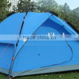 cheap sale alumium pole double fabric auto open 4 person tent