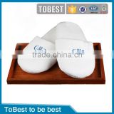 ToBest Wholesale Disposable Hotel slippers , cotton towelling hotel slippers , embroidery terry slippers