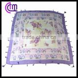 square polyester voile scarf with fashion design printing
