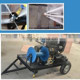 GYB-1 180 bar 50 lpm gasoline engine drain sewer cleaning machine for sale high pressure pipe cleaner