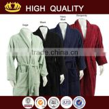 coral fleece printed bathrobe for men