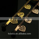 Wholesale stainless steel where can i buy charms for charm bracelets Love heart Bracelet 9309