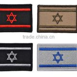 Israel flag patch chapter 3D woven lable stick Personality armbands badge Embroidery design badges customized