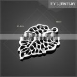 12958-982 is art of Tibetan accessories accessories bright plating hollow Christian Jin Jin hollow Leaf Pendant
