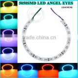 12v halo switch 5050 smd led angel eyes semi circle white pcb, led angel eyes color change bulbs