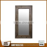 Reclaimed Old Wood Handmade Frame Mirror,Dressing Cosmetic Wall And Standing Mirror Frame