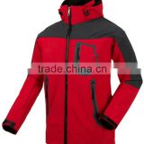 Mens hoody softshell bonded with polar fleece jacket, winter jacket