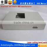 XAX18Alu OEM ODM customized laser cut bend weld plate aluminum industrial panel pc enclosure