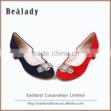 Latest high quality low heel 2.5cm field hockey ballerinas women dress shoes