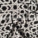 Shaoxing Zequn polyester spandex knit screen print fabric,FDY printed jersey fabric for T-shirt and sweat shirt
