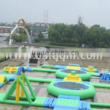 Large inflatable aqua park equipment floating water playground