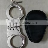 Hinged handcuff police handcuff double locking handcuff