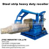 Metal steel aluminum copper strip cut to length line recoiler mandrel tension reel coiler machine