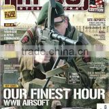 Offset airsoft magazine printing with high white paper
