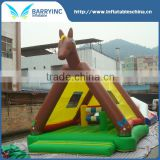 China supplier outdoor toys cute inflatable horse bouncer