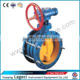 Worm wheel telescopic butterfly valve