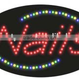Outdoor advertising LED Sign for the beauty salon nail shops OEM is welcome
