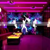 Hot wallpaper 3d wall murals for pub and KTV decor china wallpaper