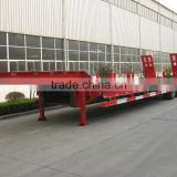 Two axles Low Bed Semi-trailer to transport construction machinery and heavy duty equipments and machines