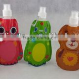 BPA foldable water bottle,Animal shape foldable bottle