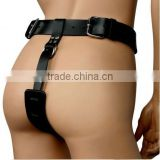 New Under the Sex Restraint belt Toys with Handcuffs and Ankle Cuffs bondage/adult fun Female Butt Plug and Dildo Harness                                                                         Quality Choice