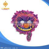 Top sale colorful cheap customized embroidery animal head of hedgehog