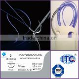 Medical Consumables-surgical absorbable Polydioxanone Suture-PDO/PDSII-Factory with CE/ISO