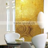 VH JY-JH-GS01-A Premium Mosaics Handmade Golden Glass Mosaic Living Room Backsplash Tiles Lowes Mosaic Art Wall Murals