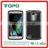 New design Rugged Football Dot Hybrid TPU + PC + Silicone Back Skin Cover shockproof case for K10