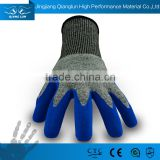 QL Anti-cut fabric oil proof acid protective gloves