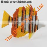 Small colorful rubber fish toys