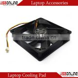 A cooling fan black 120 * 120 * 25mm,cooling fan for computer case CPU Fan is made of plastic cooler fan cooling pad cool fan