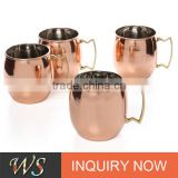 promotion or gift customizing copper cup copper plated and logo stainless steel double wall beer mug