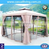 Metal Gazebo with Netting Tent Privacy Curtains Steel Frames Cover Fabric Roof Sun UV-Protected Patio Gazebo with mosquito net