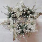 Christmas Artificial flower pine wreaths for decorations/all people/Party/Festival