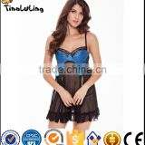 2017 wholesale valentine gift adult sexy lingerie babydoll night dress