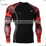 Man's Compression T-Shirt Long Sleeves 3D Prints Athletic Works Sports Wear